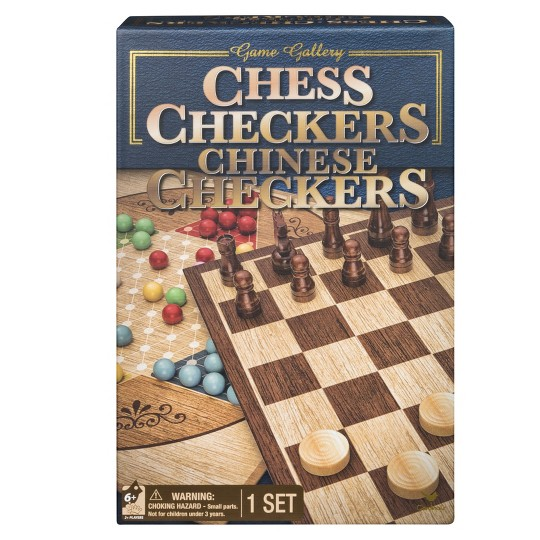 Game Gallery Chess, Checkers and Chinese Checkers Board Game Set, Adult Unisex image number null