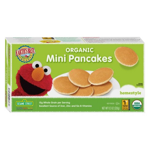 Earth' s Best Sesame Street Organic Homestyle Frozen Mini Pancakes - 11.3oz - image 1 of 1