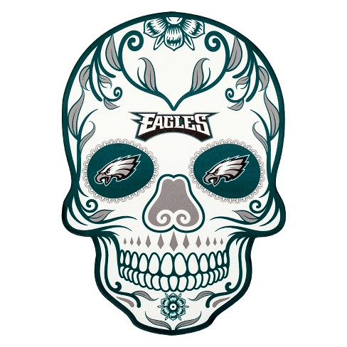 Nfl Philadelphia Eagles Large Outdoor Skull Decal