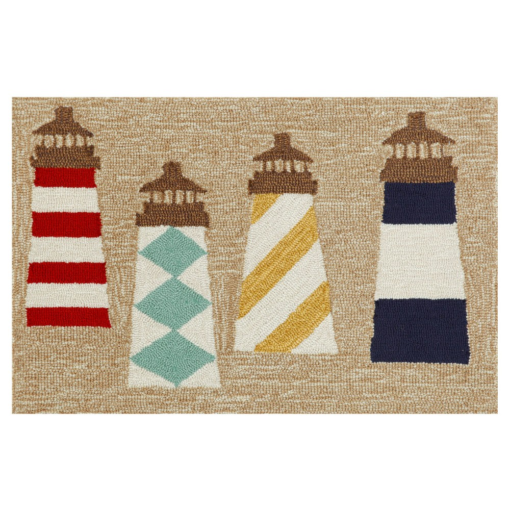 Frontporch Indoor/Outdoor Lighthouses Natural Rug 30