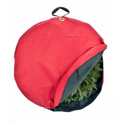 Northlight Direct Suspend Hanging Christmas Wreath Storage Bag - Fits Up To 36 Wreath