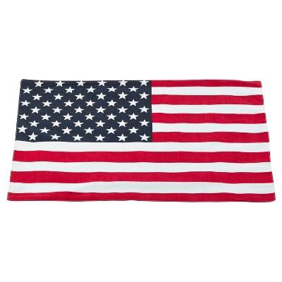 (Set of 4)Multi Nabru American Flag Design Placemat 14 x20  - Saro Lifestyle®