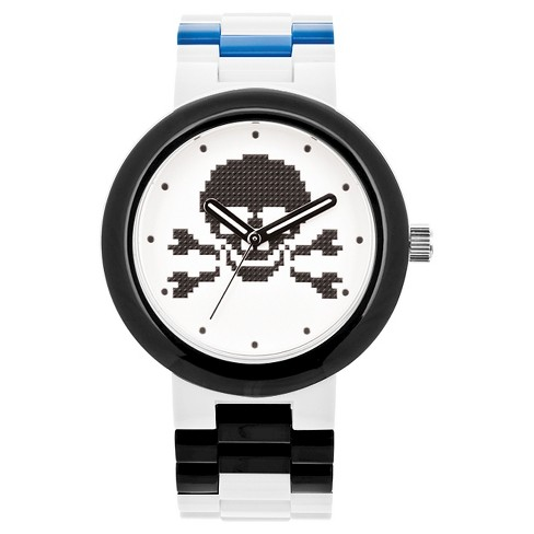 LEGO® Skull Analog Interchangeable Band Watch - White - image 1 of 5