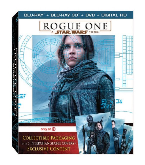 Rogue One: A Star Wars Story - Target Exclusive (Target Exclusive Bonus Disc + 3D + Blu-ray + DVD + Digital) - image 1 of 2