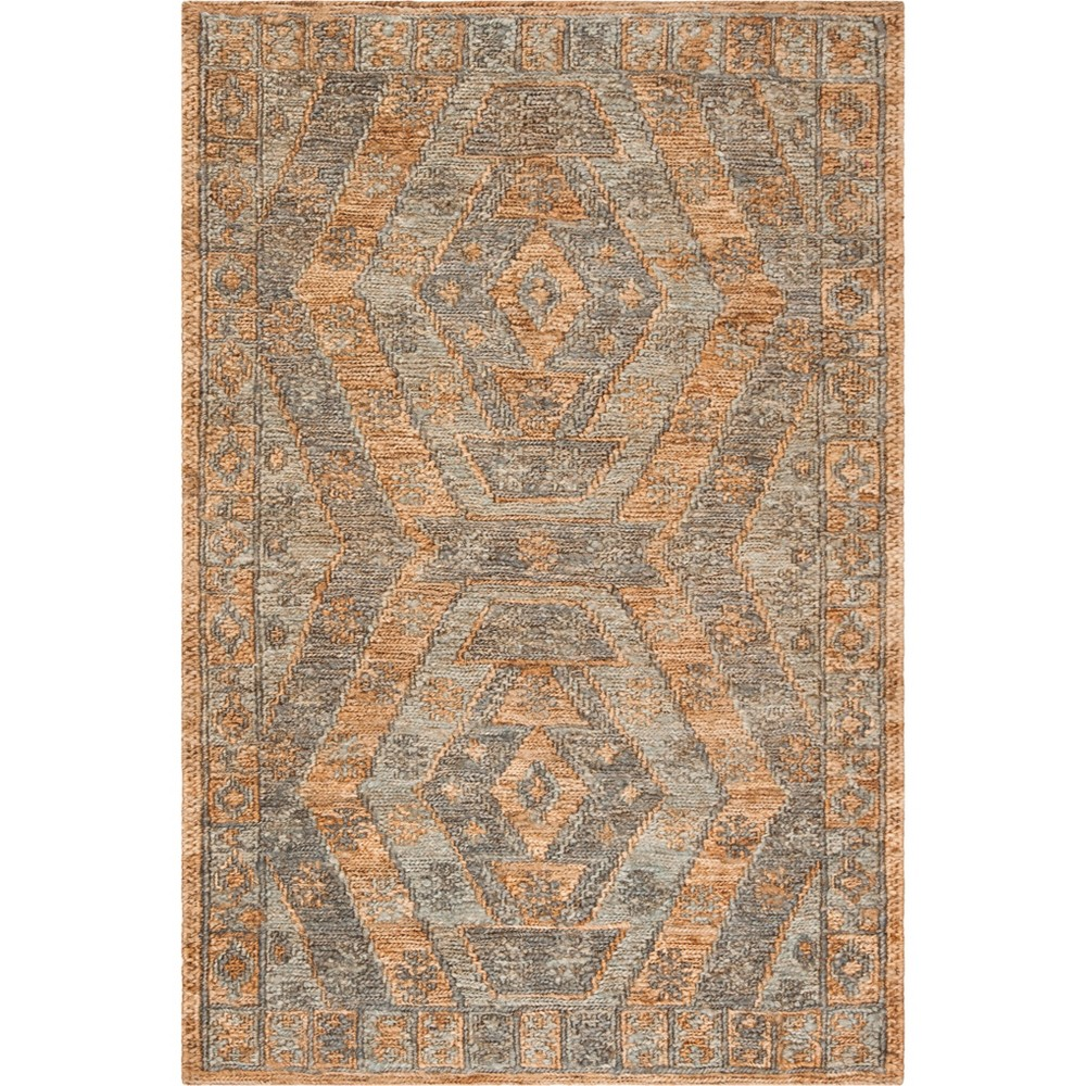 4'X6' Solid Woven Area Rug Slate/Natural - Safavieh, Gray