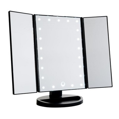 Impressions Vanity Touch 3.0 Trifold Dimmable LED Makeup Mirror - Black