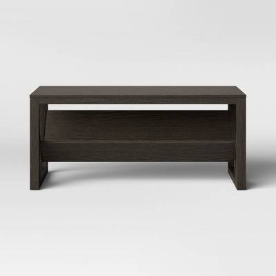 Fairfax Wood Coffee Table with Angled Shelf Brown - Threshold™