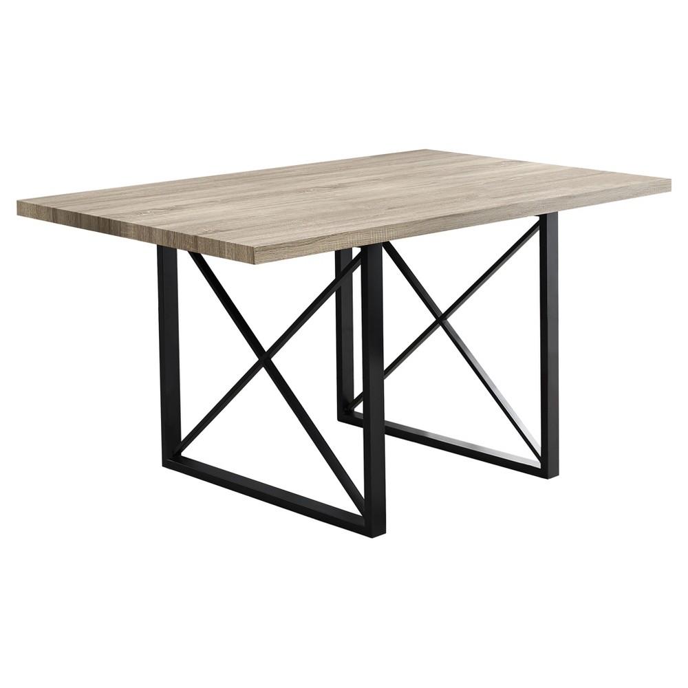 Image of Dining Table - Dark Taupe, Black Metal - EveryRoom