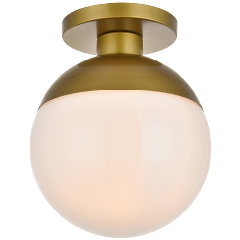 "Elegant Lighting LD6060 Eclipse Single Light 12"" Wide Semi-Flush Globe Ceiling Fixture with Frosted Glass - image 1 of 4"