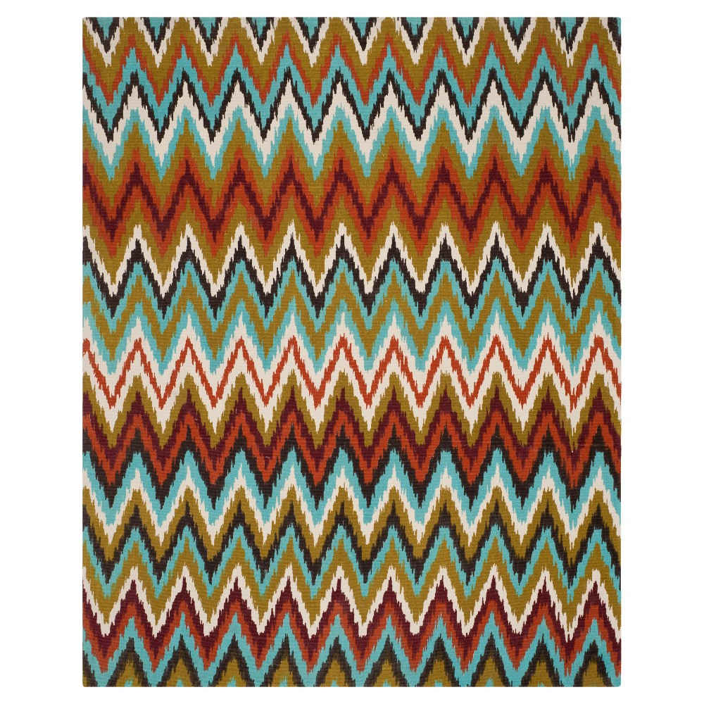 Kirkly Area Rug - Teal/Red (6'x9') - Safavieh, Blue/Red