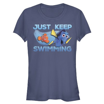 Junior's Finding Dory Just Keep Swimming Current T-Shirt