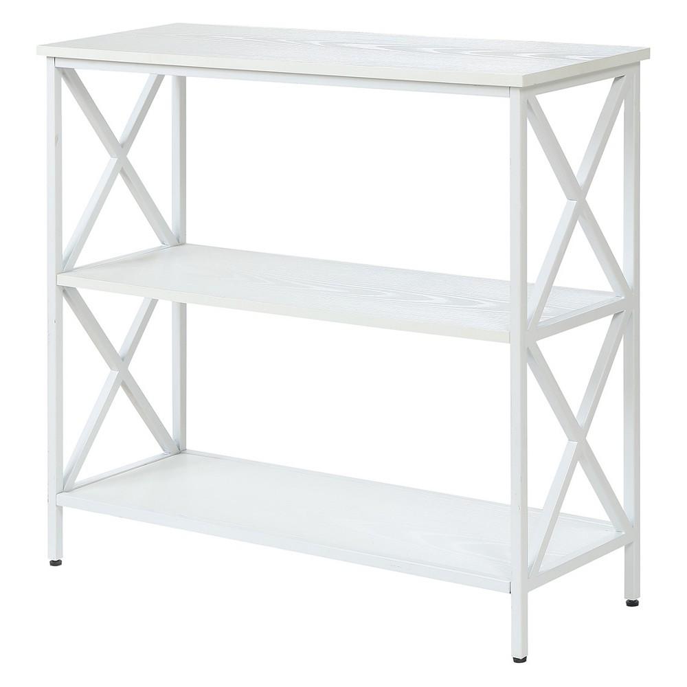 "Image of ""29.25"""" Tucson 3 Tier Bookcase White - Johar Furniture"""