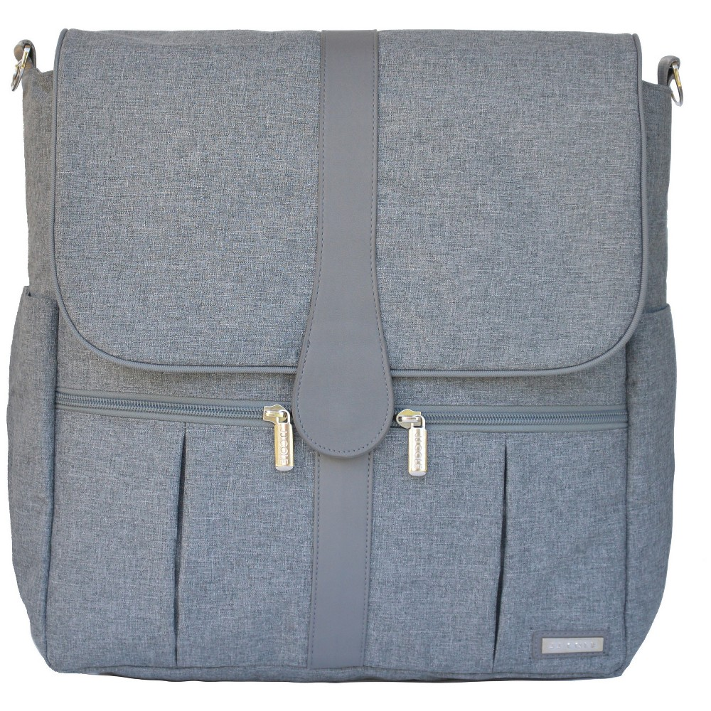 JJ Cole Backpack Diaper Bag, Gray Heather, Heather Grey