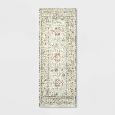 "22""x60"" Runner Printed Persian Rug Natural - Threshold™"