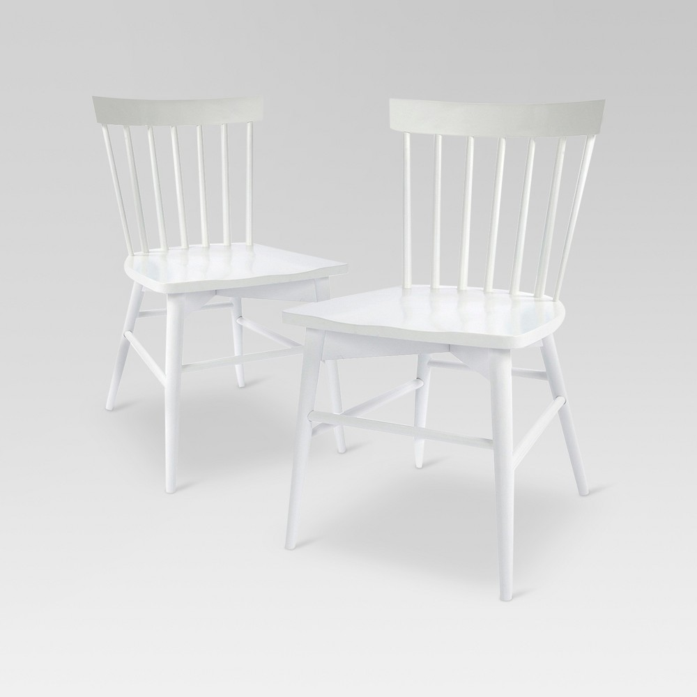 Set of 2 Windsor Dining Chair White - Threshold