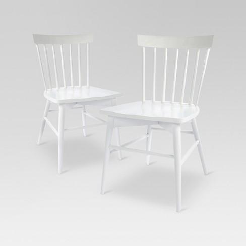 Brilliant Set Of 2 Windsor Dining Chair White Threshold Ibusinesslaw Wood Chair Design Ideas Ibusinesslaworg