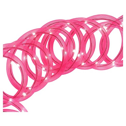 18' Mesh Rope Garl 72LED Lights - Pink - image 1 of 1