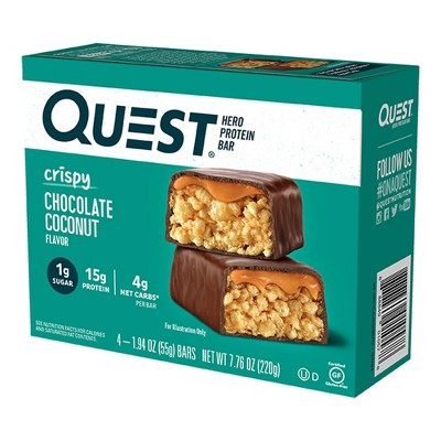 Quest Nutrition Chocolate Coconut Hero Bar - 4ct