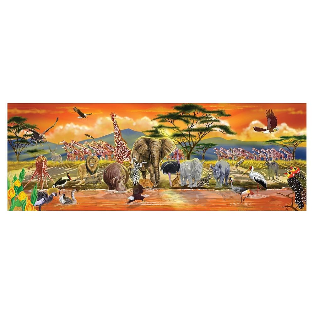 Melissa & Doug African Plains Safari Jumbo Jigsaw Floor Puzzle (100pc, over 4 feet long)