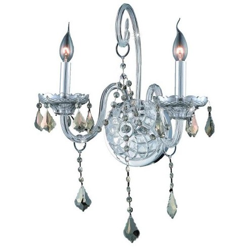 Elegant Lighting 7852W2C-GT Verona 2-Light Crystal Wall Sconce, Finished in Chrome - image 1 of 1