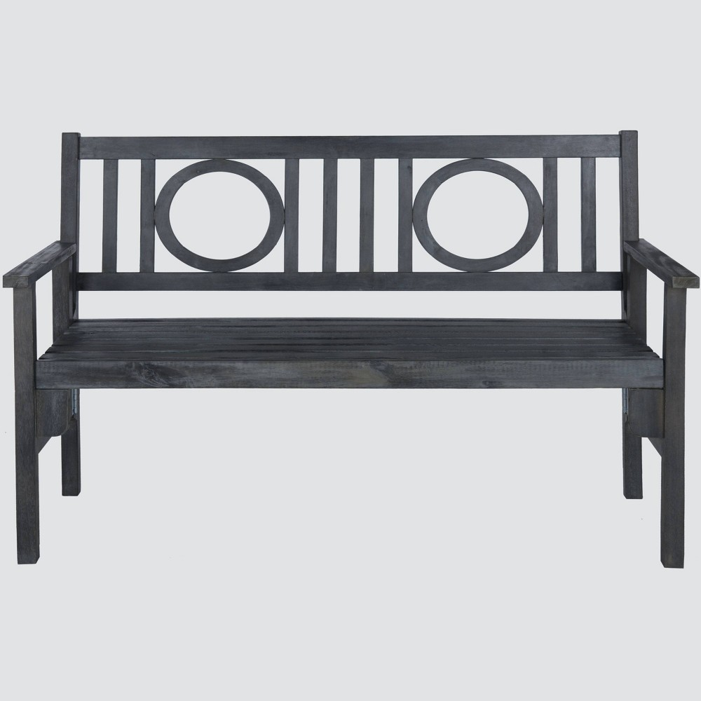 Patio Folding Bench - Gray - Safavieh