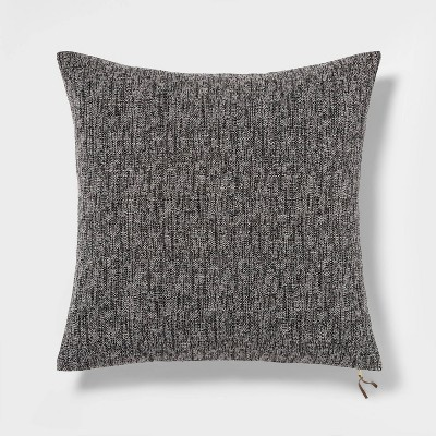 Oversized Square Woven Pillow with Exposed Zipper Black - Project 62™