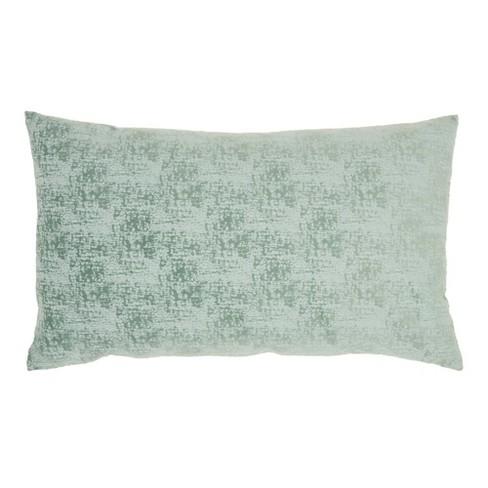 """14""""x24"""" Life Styles Erased Velvet Throw Pillow Celadon - Mina Victory - image 1 of 4"""