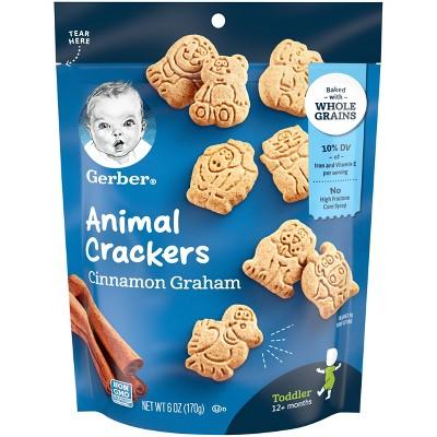 Gerber Cinnamon Graham Animal Crackers - 6oz