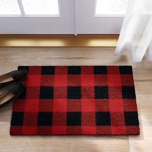 1 6 X2 Tufted Plaid Red Threshold