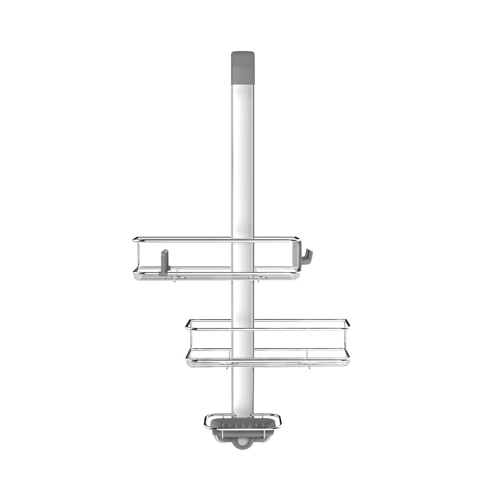 Image of Over Door Shower Caddy Silver - Simplehuman