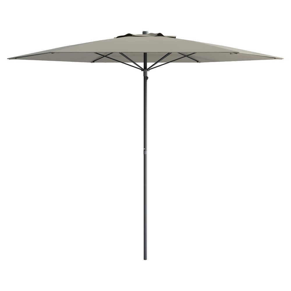 Image of 6' UV and Wind Resistant Beach/Patio Umbrella - Gray - CorLiving