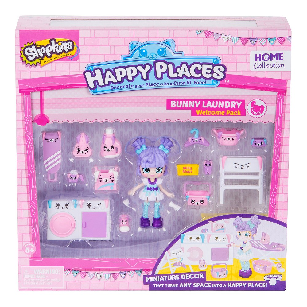 Happy Places Shopkins Welcome Pack - Bunny Laundry