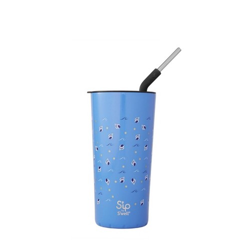 S'ip by S'well 24oz Takeaway Tumbler with Stainless Steel Straw Cadet Blue - image 1 of 1