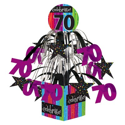 Milestone Celebrations 70th Birthday Centerpiece