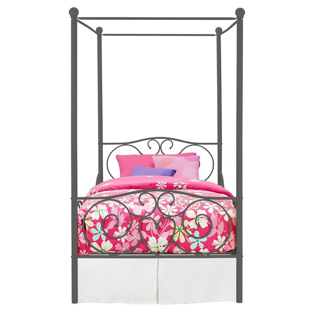 Clara Metal Bed (Twin) Gray - Room & Joy