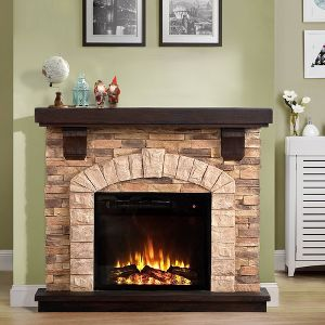 45 Freestanding Electric Fireplace Tan Home Essentials Target