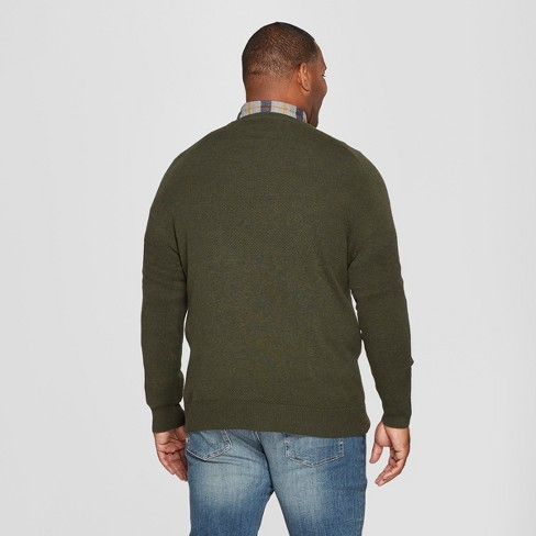 4e3d30a244 Men s Big   Tall Crew Neck Sweater - Goodfellow   Co™ Olive Heather