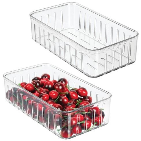 mDesign Vented Fridge Storage Bin Basket for Fruit, Vegetables, Small - image 1 of 4