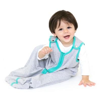 baby deedee Swaddle Wrap Wearable Blanket - Heather Gray Teal L