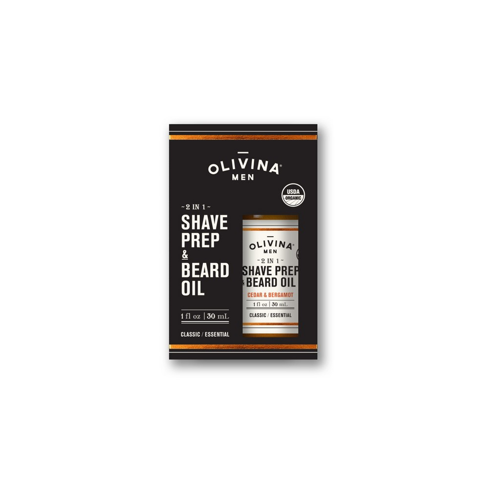 Image of Olivina Men 2 in 1 Shave Prep & Beard Oil - 1 fl oz