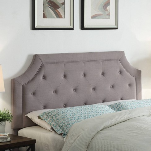 Kelsey Gray Linen Headboard Full/Queen Gray - FirsTime - image 1 of 4