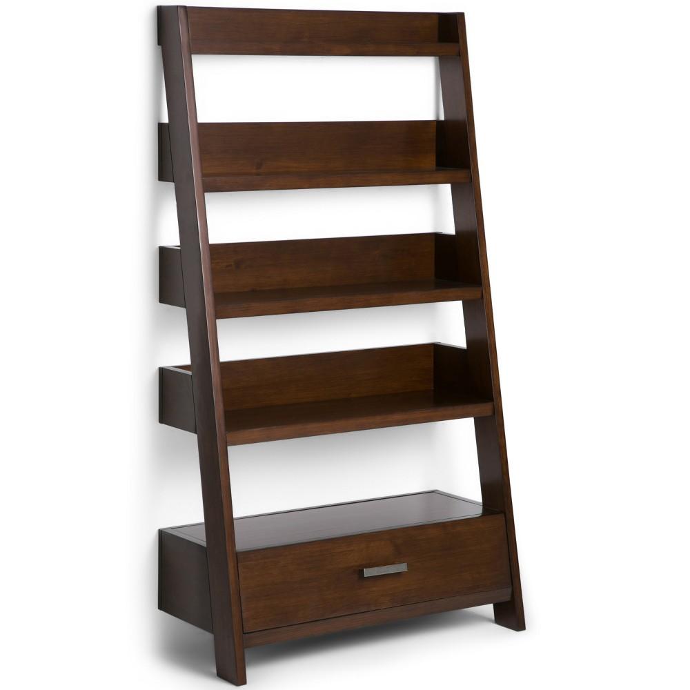 Harriet Solid Wood Ladder Shelf Auburn - Wyndenhall