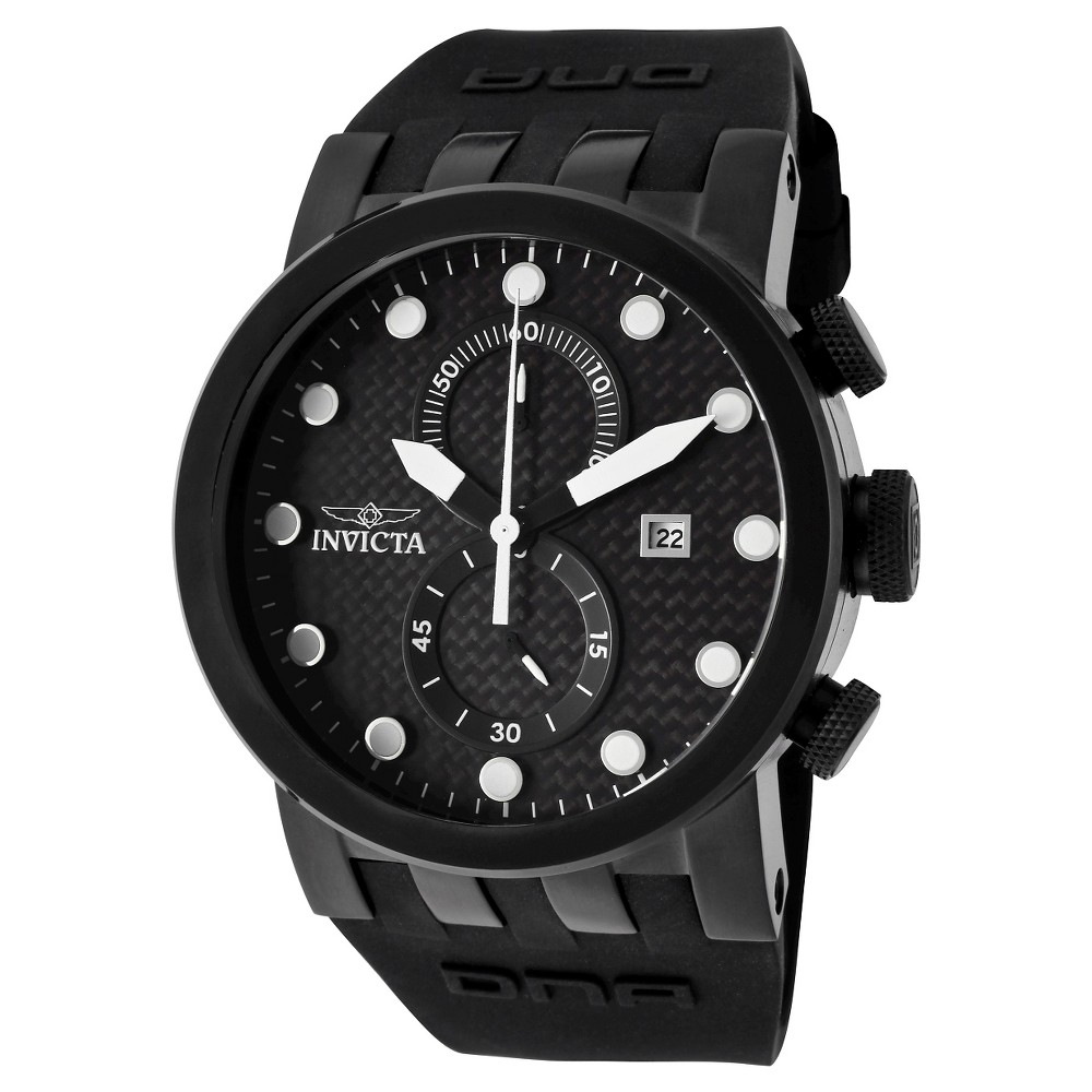 Men's Invicta 10427 Dna Quartz Chronograph Black Dial Strap Watch - Black