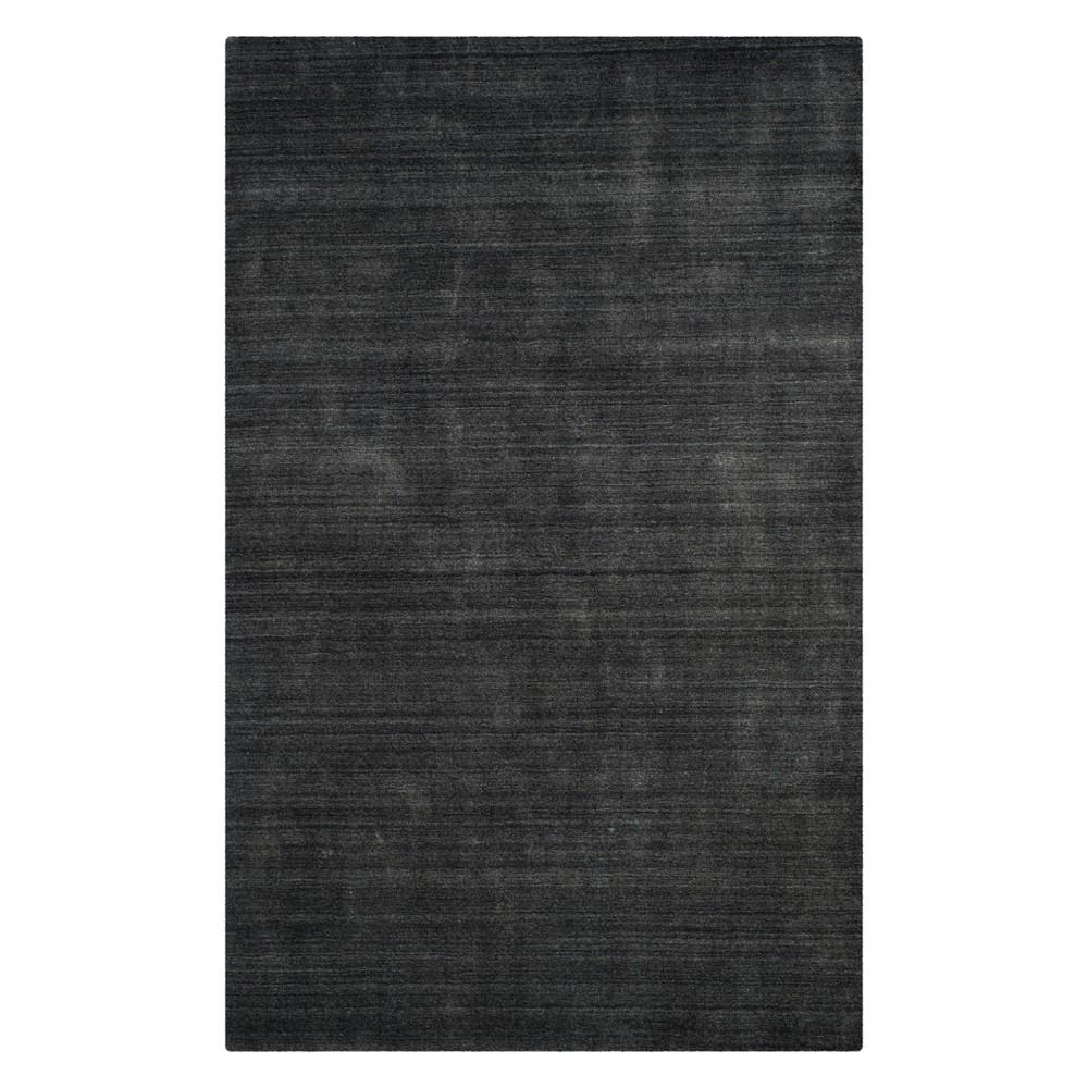 8'X10' Solid Area Rug Charcoal (Grey) - Safavieh