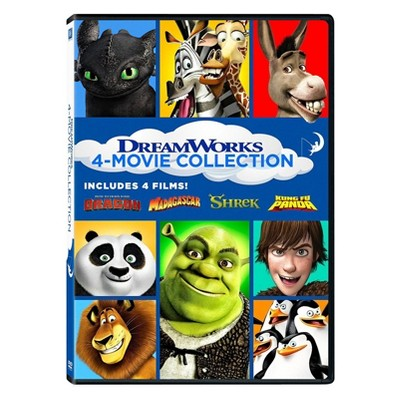 Shrek/Madagascar (2005)/Kung Fu Panda/How to Train Your Dragon (DVD)