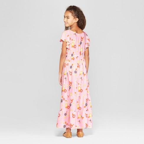 9963896bcc6 Girls  Woven Maxi Dress - Cat   Jack™ Pink   Target