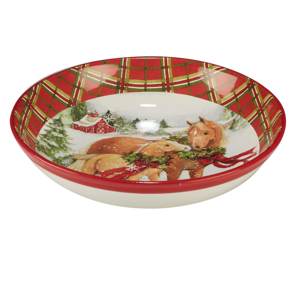 144oz Christmas On The Farm Ceramic Serving Bowl - Certified International