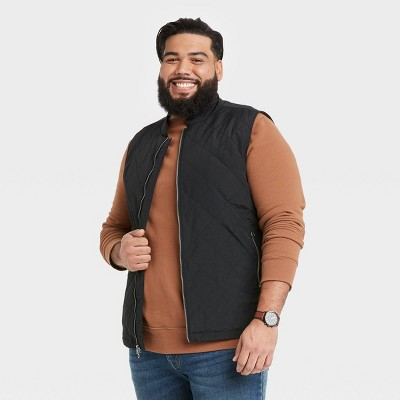 Men's Big & Tall Lightweight Quilted Puffer Vest - Goodfellow & Co™ Black