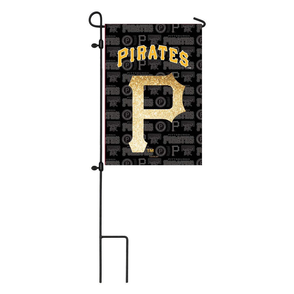 Pittsburgh Pirates Two-Sided Glitter Accented Garden Flag
