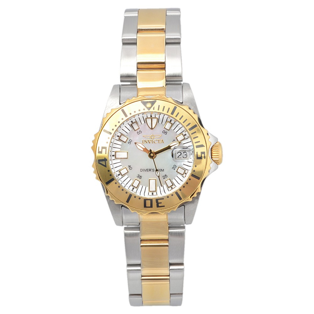 Women's Invicta 17385 Pro Diver Stainless Steel Quartz Watch - Two Tone, Silver